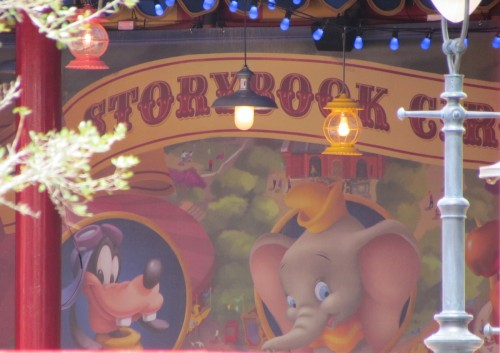 Magic Kingdom Storybook Circus Update - Yellow Tent Mural