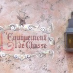 Painted Sign in Belle's VIllage