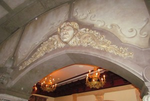 A nice piece of relief work above the lobby