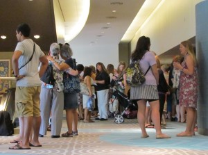 Before the event about 300 fans checked in and got acquainted on the 2nd floor of the Contemporary