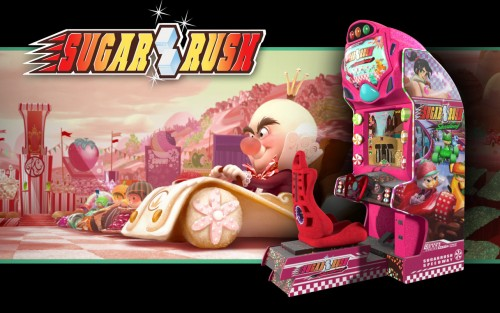 WRECK-IT RALPH Sugar Rush Game Cabine