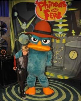 Agent P at Disneyland