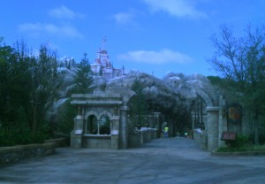 Looking across the Be Our Guest bridge