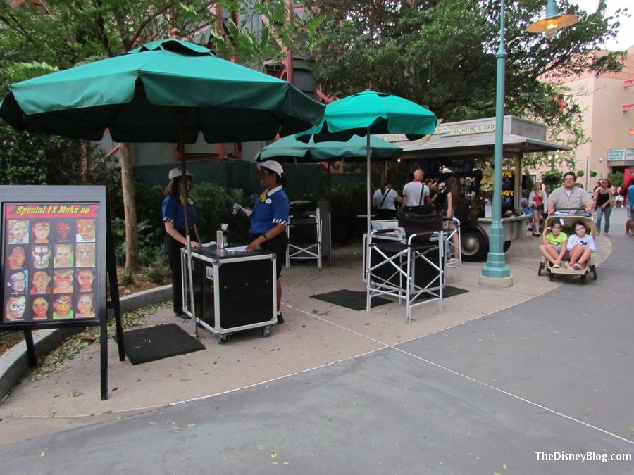 Star Wars and Face painting carts relocated