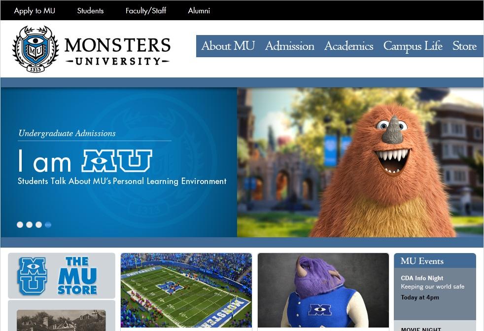 monsters university viral site