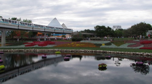 epcot flower and monorail