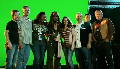 Johnny Depp and Imagineers