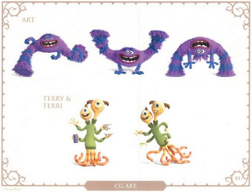 Monsters U. Character Art