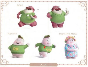 Monsters U. Character Art