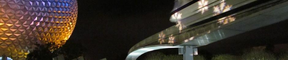 epcot exit monorail snowflakes
