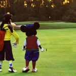 golf with mickey and goofy