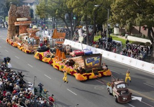 Destination: Cars Land Float, 2013 Rose Parade in Pasadena, Calif.