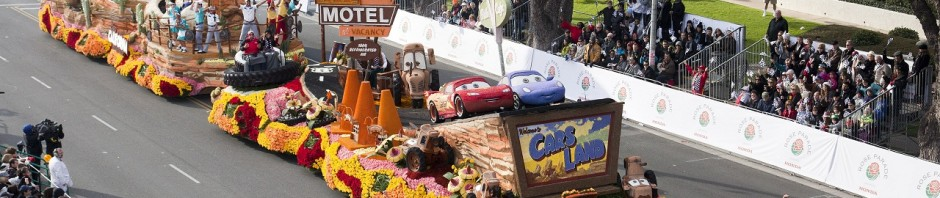 Destination: Cars Land Float, 2013 Rose Parade in Pasadena, Calif.