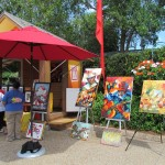 Some of the art available for purchase at Viva La Musica