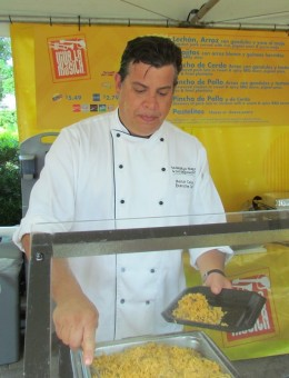 Chef Hector serves up some of his delicous food
