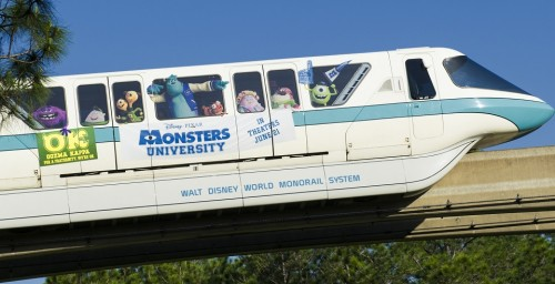 "Monstrous ""Monsters University"" Monorail Pulls Into Walt Disney World Resort"