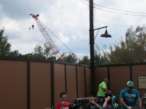There is one big construction project currently underway. Unfortunately, Disney has done a good job with erecting walls, so we won't see very much of the project that will eventually relocate Festival of The Lion King to Africa