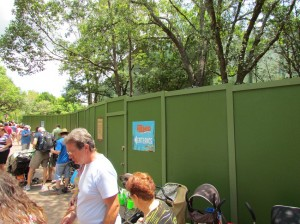 Another project behind walls at the exit to Finding Nemo