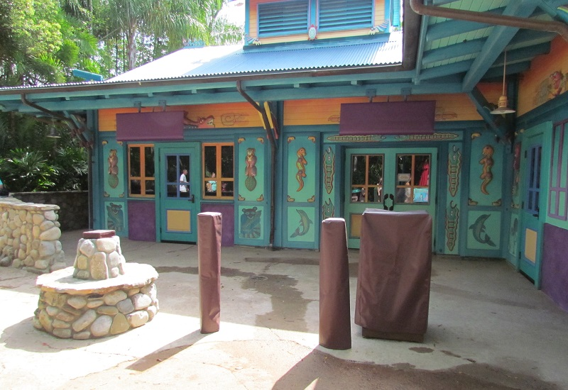 Looks like the new character greeting at the Discovery Island Bazaar is almost ready to open.
