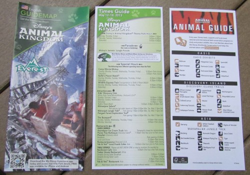 New maps and guides have been unleashed upon the park. I like the animal guide.