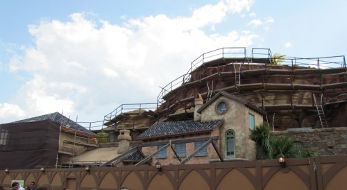 These buildings are still awaiting their roofs, but other wise look almost complete.