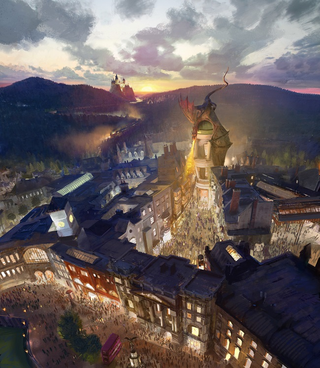 Live Preview of Harry Potter Diagon Alley Expansion at Universal