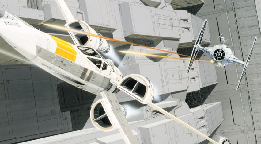 Ralph McQuarrie concept art for Star Wars episode IV