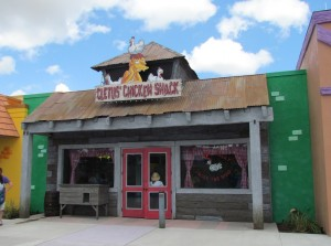 The exterior of Cletus' themed area