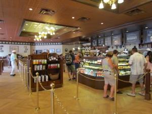 Huge interior of new Starbucks.