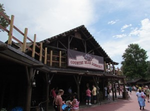 A new balcony railing is going in at Country Bear. I couldn't bring myself to go inside to see if there was anything new. The new version is horrible