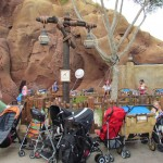We also have a stroller parking area that's closer to The Little Mermaid