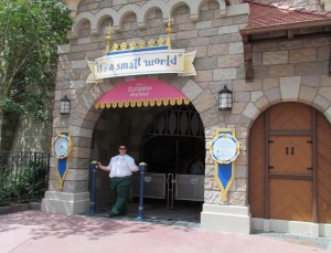 Disney was running a big test of its MyMagic+ system at the Magic Kingdom. Many attractions have new entrances for FastPass+ including it's a small world
