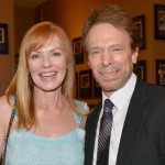 Marg Helgenberger (CSI) with Jerry Bruckheimer