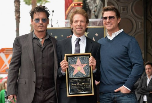 Johnny Depp, Jerry Bruckheimer, and Tom Cruise.