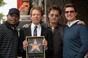 Martin Lawrence, Jerry Bruckheimer, Johnny Depp, and Tom Cruise.