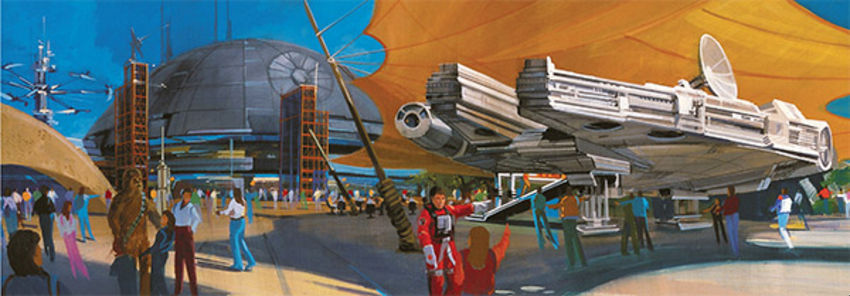 Concept art for Star Wars mini-park planned for Disneyland Paris