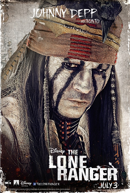 the-lone-ranger-tonto-johnny-depp-poster