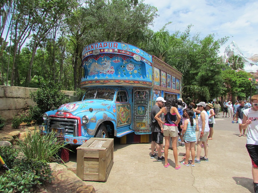 The Ice Cream bus in Asia has been fixed up and its parking space expanded. It looks good.