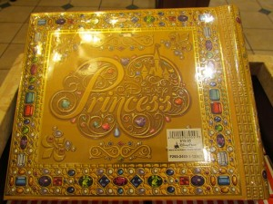 This one is not exactly new, but I haven't featured it before. It's a princess autograph book that looks like that book at the start of each animated feature about princesses. Classy