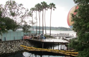 and behind it is a bridge that will one day redirect guests around construction in Pleasure Island