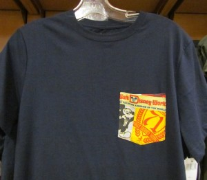 There's a new set of four t-shirts with a design on the pocket only.