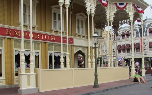 Sidewalk work in front of the Emporium. Main Street USA itself will be getting some new pavement starting soon