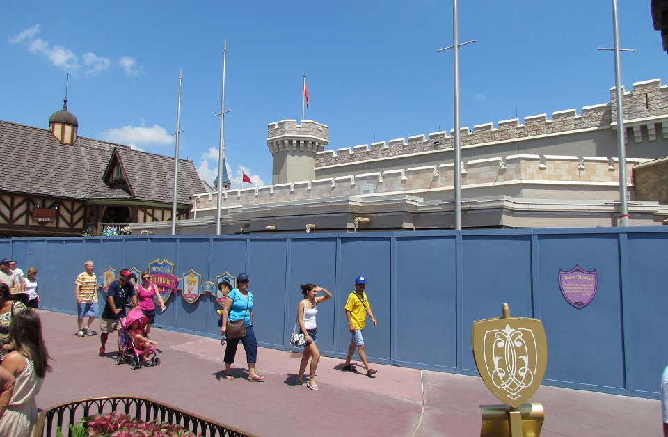 Not much change to the exterior of the new Fairytale Princess Hall.