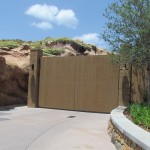 Doors have been installed in the New Fantasyland backstage access area