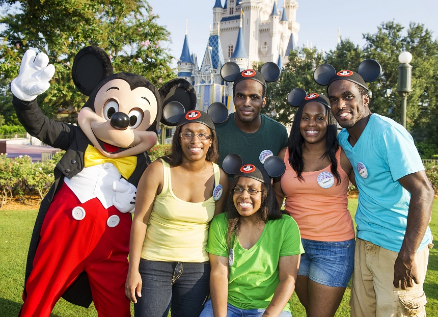 THE GAITHER FAMILY, FIRST SURVIVING SET OF AFRICAN-AMERICAN QUINTUPLETS, CELEBRATE 30TH BIRTHDAY AT DISNEY WORLD IN FLORIDA