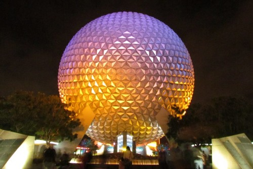 spaceship-earth-epcot-night