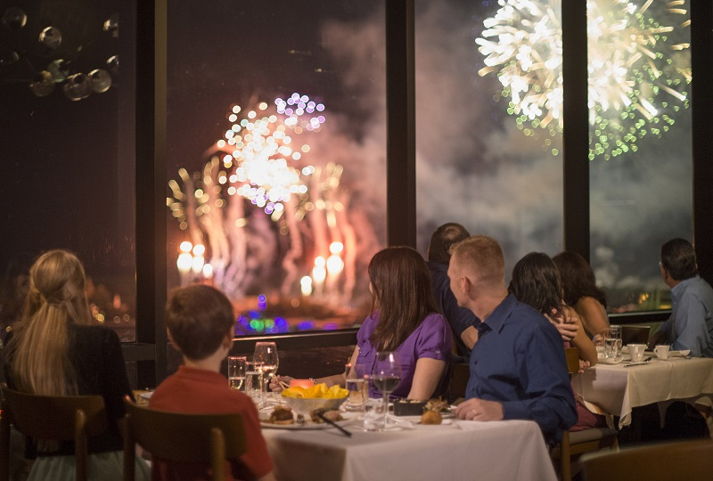 With sweeping views of Magic Kingdom fireworks from atop Disney's Contemporary Resort, the re-imagined California Grill also features a new design inspired by mid-century modern California, and a new menu showcasing seasonal ingredients and a lighter touch.
