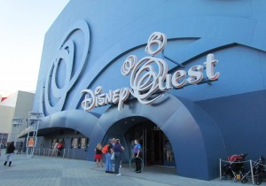 The final paint on Disney Quest. Looks better at night.