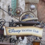 A nice steampunk-esque sign even if it's another DVC sales location (how many of those do we need, really)