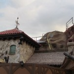 On top of the building is a fantastic squid weathervane. Nice detail